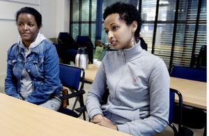 Eden Kiflom och Selam Tewolde jobbar hårt för att få börja arbeta i Sverige.