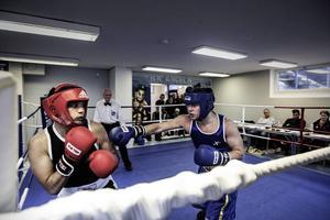 Två av BK Ängelns boxare hade fina tävlingsdebuter i Umeå i helgen. Här ser vi Ängelns Majid Bagheri i sin debut på hemmaplan i oktober.
