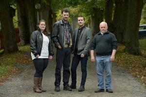 Här är de fyra bönderna som i höst ska söka kärleken i tv. Det handlar om Marléne Ljungdahl, Nils-Olof Olsson, Pär Eriksson och Mikael Carlsson.
