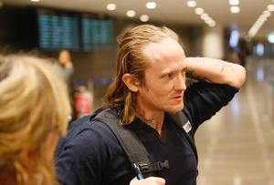 Daniel Bakke på Arlanda 2016, hemma efter fyra år i tunisiskt fängelse.