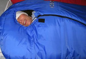 Härligt varma sovsäckar, bara att krypa ner och njuta.