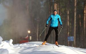 Leif Bartholdsson gjorde sin första skidtur på tisdagen i perfekta spår i Bergebo. Foto: Johnny Fredborg