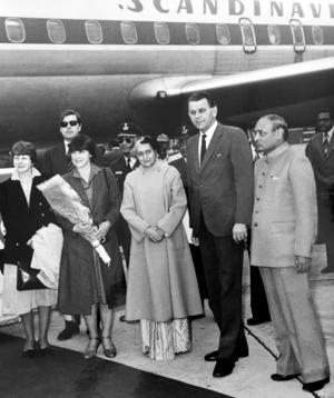 Statsbesök i Indien 1982 hos Indira Gandhi.