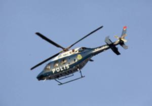 Polisens nya helikopter på plats.