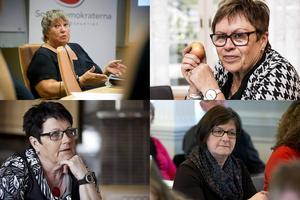 S-politikerna i landstingsdramat: Elisabet Lassen, Elvy Söderström, Eva Sonidsson och Elisabet Strömqvist.