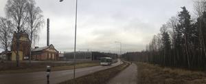 Till höger finns området som bolaget för vildvattenparken nu står som ägare till.