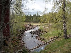Återställning. Sågdammen i Östanvik byggs just nu upp på nytt.