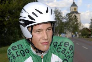 Mot EM. Falu CK:s junior Victor Holfwe ska försvara Sveriges färger i tempo- och linjeloppet vid EM i Bulgarien. Foto:GunnarBäcke/Arkiv