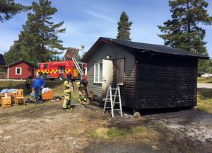 Brand i stuga vid Gullviks havsbad och camping.