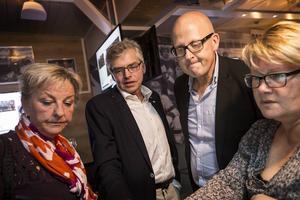 Carina Asplund, Per Åsling, Bosse Svensson och Marianne Larm Svensson följde spänt rösträkningen på valkvällen 14 september. I dag avgjordes kampen internt i Centerpartiet i Östersunds kommun.