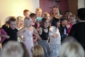 Eleverna på Lönnbergsskolan uppträdde på tisdagskvällen.