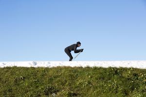 Ett trettiotal skidåkare åkte under söndagsförmiddagen.