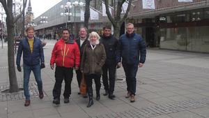 Alliansen genomförde en vandring i Södertälje centrum på måndagen.