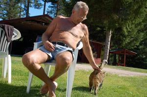 Ulf Jernberg hemma på gården i Björkvassla.