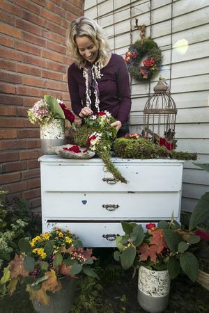 Trädgårdsmästaren och floristen Helena Carlsson visste tidigt att hon skulle hålla på med något kreativt.