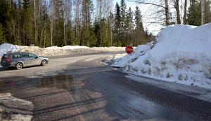 In - och utfarten på Viljansvägen tas bort.