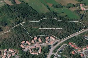 Det tänkta bostadsområdet ligger i västra Granloholm intill Göteborgsvägen och Strömstadsvägen. Bild: Sundsvalls kommun