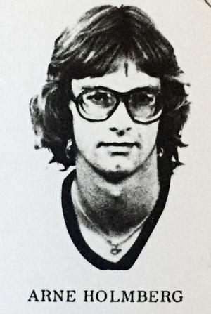 Arne Holmberg, radioprofil på Radio Örebro, klass 2C, Karolinska skolan läsåret 1974/75.