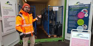 Hassan Dincer, arbetsledare på Telge återvinning. Foto: Telge