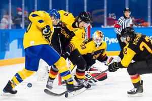 Christian Ehrhoff stod för ett av målen i segern över Tre Kronor. Bild: Joel Marklund/Bildbyrån