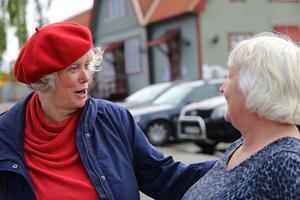 Birgitta Sevefjord, ordförande för Tandpatrullen, tillsammans med Hagar Lövgren som har bestämt sig för att engagera sig i pensionsfrågan.