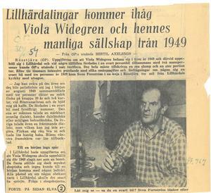ÖP 1954. Vittnen är övertygade om att de sett Viola Widegren i Lillhärdal fem år tidigare.