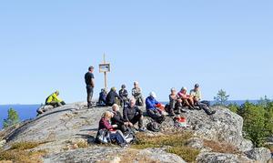 På toppen av Klubberget.