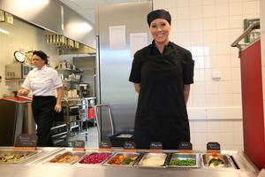 Linda Stenius arbetar i köket på förskolan.