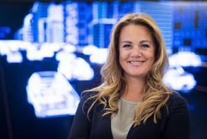 """Jenny Larsson kommer att vara högsta chefen för ABB:s verksamhet i bland annat Ludvika även efter det att Hitachi blir majoritetsägare till sommaren. Hon vill framhålla att """"vi har en spännande resa framför oss"""". Foto: Jonas Bilberg/ABB"""