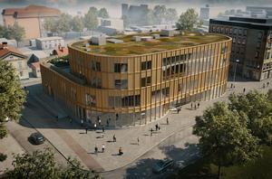Bilderna på hur huset kommer att se ut släpptes i början av juli. Bild: Gavlefastigheter/NCC/Nyréns Arkitektkontor
