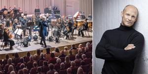 Martin Fröst under sin första konsert som chefsdirigent för Svenska kammarorkestern och Tobias Karlsson som precis släppts sin bok. Foto: Gabriel Rådström / Peter Knutson (bilden är ett montage)