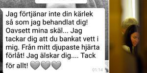 Ett sms mellan Åsa Waldau och en av de drabbade sektmedlemmarna. Från polisens förundersökning.