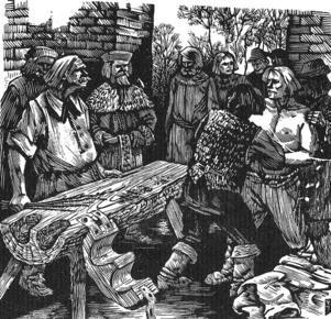 De litauer som reser sig mot den tyska överheten råkar illa ut i Kristijonas Donelaitisk