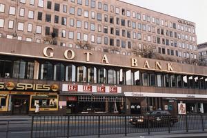 Gota Bank - upphörde i och med finanskrisen i början av 90-talet. Bild: Tobias Röstlund/Scanpix