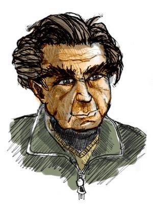 Emil Cioran. Illustration av Ironie.