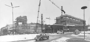 Nya Domus ska vara klart för invigning i juni. Bild tagen i mars 1970. Foto: VLT:s arkiv