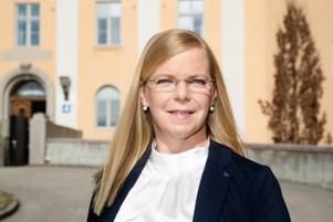 Helena Hagberg (L) och majoriteten vill inte se skattefinansierade mensskydd för unga tjejer i Västmanland. Foto: Arkiv
