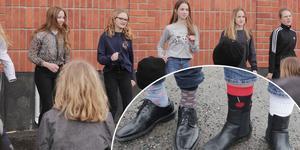 På Vinsboskolan i Smedjebacken rockades sockorna loss på Downs syndrome-dagen.
