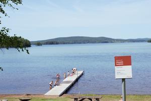 Vitsands badplats i Sundborn.