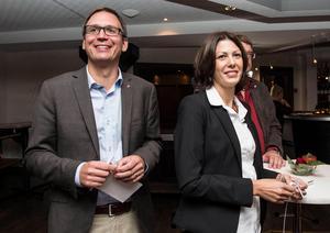 Peder Björk och Bodil Hansson presenterade i veckan Socialdemokraternas vallöften i Sundsvall.