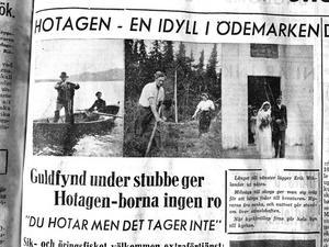 Fredagen 7 augusti publicerades Rune Modeens reportage om idyllen Hotagen i Länstidningen, Östersund.Bland annat skriver han om den vilda sjön Hotagen, den som hotar men inte tager.Två dagar senare drunknade Modeen på en näraliggande sjö, Stora Brinnsjön.
