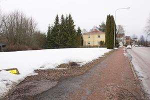 Den stora tomma byggbara ytan till vänster i bild ligger mellan Corneliusgatan 42 och 46.