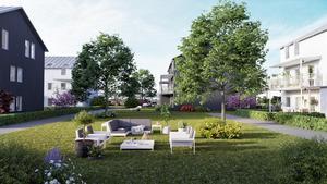 Så här ska det se ut i den nya området Frostbrunnsparken, Buskåker.Illustration: Studio 3D