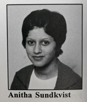 Anitha Cleménce (fd. Schulman), kreatör, medieentreprenör, programledare, klass MP2, Rudbecksskolan läsåret 1995/96.