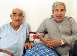 Shiyar Ali med sin far.
