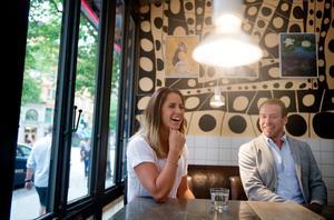 Från början hade Anna och Emil tänkt lägga av efter VM i Falun för tre år sedan. Men på en pressträff i maj 2014 meddelade paret att båda tänkte satsa vidare längre än så. Foto: Jessica Gow/TT