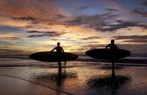Christoffer Jansson drar till Bali och solen.