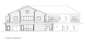 Så här kommer nya Fölet att se ut mot nordväst, förskola på bottenvåningen och lägenheter med balkonger på övervåningen.