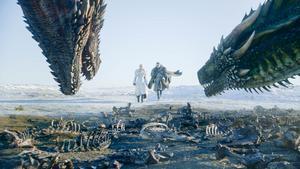 Daenerys Targaryens (Emilia Clarke) och Jon Snow (Kit Harington). Foto: HBO via AP