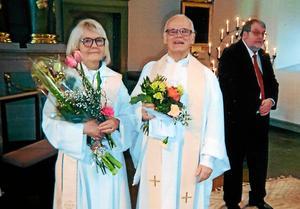 Cajsa Andersson och Agne A Andersson avtackades.Foto: Privat.